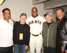 Willie Mays, Billy Crystal, Barry Bonds, Robin Williams, Juan Marichal