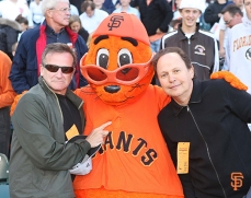 With Lou Seal & Billy Crystal