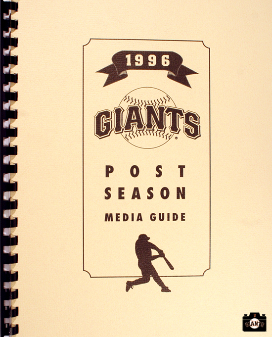 1996 Post season media guide, sf giants