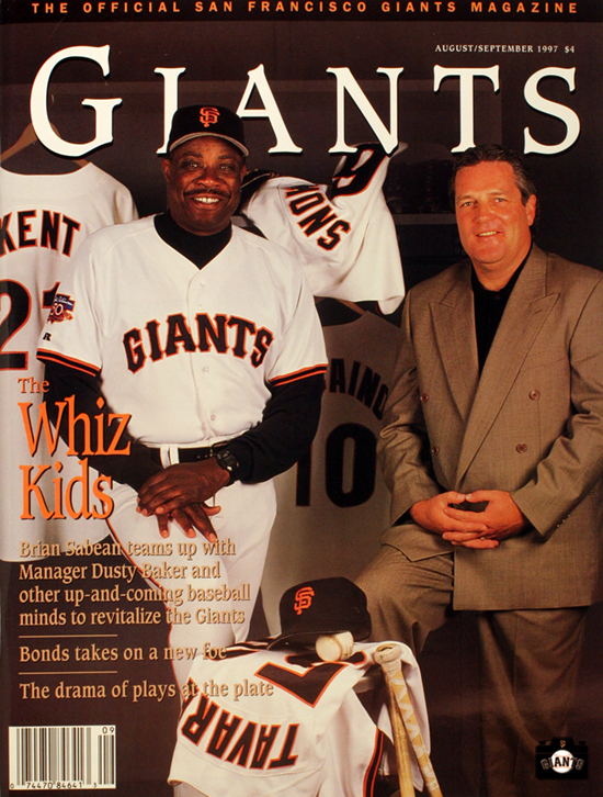 1997, sf giants, magazine, dusty baker, brian sabean