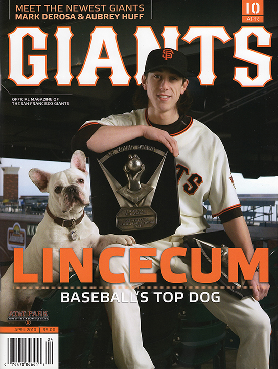 giants magazine, april 2010, tim lincecum, cy young, baseball's top dog