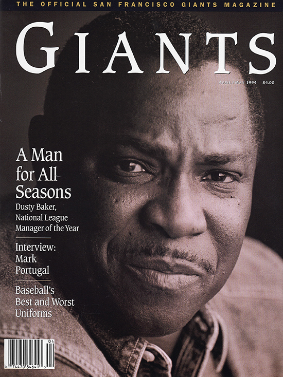 giants magazine, april 1994 - dusty baker, a man for all seasons