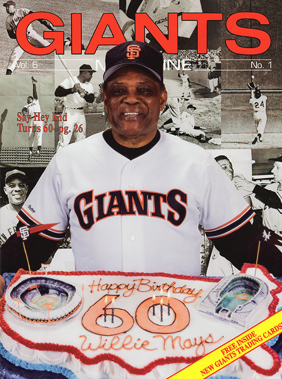 giants magazine, say hey kid, 1991, willie mays
