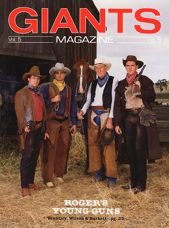 young guns, giants magazine, 1990, jeff brantley, roger craig, john burkett, trevor wilson