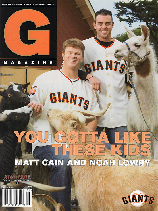 giants magazine, june 2007, matt cain, noah lowry, you gotta like these kids