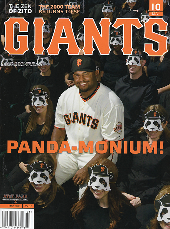 giants magazine, pablo sandoval, may 2010, pandaemonium