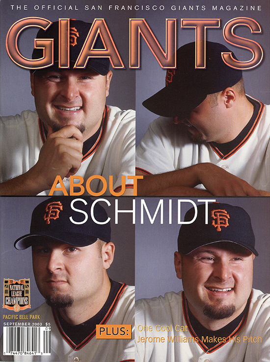 giants magazine, spet 2003, about schmidt, jason schmidt