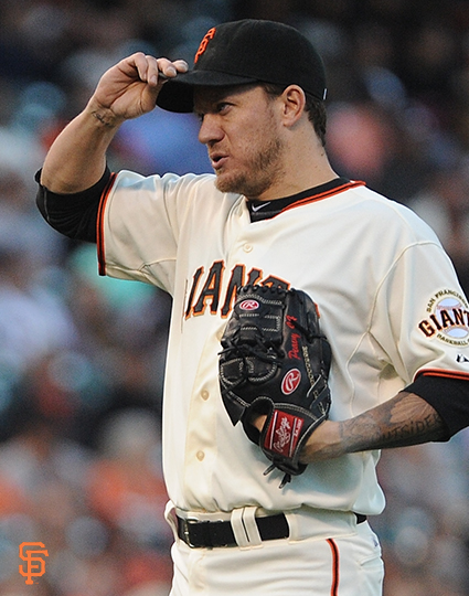 San Francisco Giants, S.F. Giants, photo, 2014, Jake Peavy