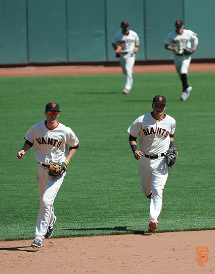 San Francisco Giants, S.F. Giants, photo, 2014, Matt Duffy, Joe Panik