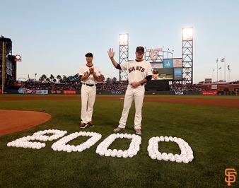 San Francisco Giants, S.F. Giants, photo, 2014, Tim Hudson, Jake Peavy