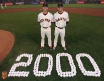 San Francisco Giants, S.F. Giants, photo, 2014, Tim Hudson, Jake Peavy