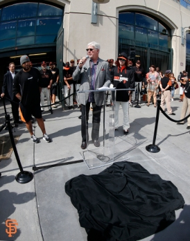 tim lincecum, no hitter, plaque, unveiling, september 13, 2014, sf giants, photo