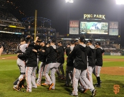october 1, 2014, sf giants, national league wild card champion,, clinch
