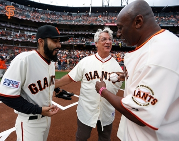 San Francisco Giants, S.F. Giants, photo, 2014, NLCS, Sergio Romo, Dave Dravecky, Jeffrey Leonard