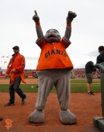 San Francisco Giants, S.F. Giants, photo, 2014, NLCS, Lou Seal