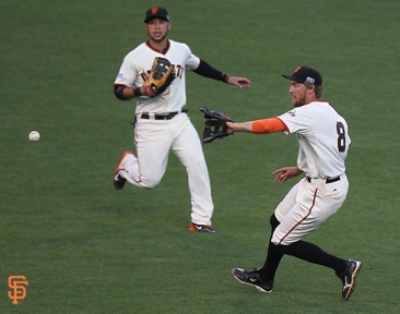 San Francisco Giants, S.F. Giants, photo, 2014, NLCS, Gregor Blanco, Hunter Pence