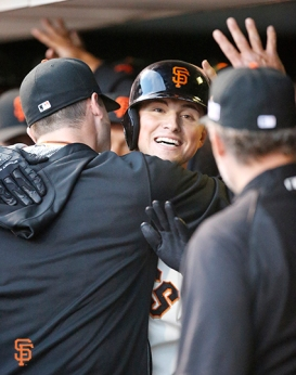 San Francisco Giants, S.F. Giants, photo, 2014, NLCS, Joe Panik