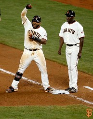 San Francisco Giants, S.F. Giants, photo, 2014, NLCS, Pablo Sandoval, Roberto Kelly