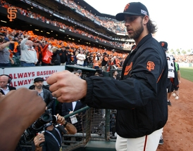 San Francisco Giants, S.F. Giants, photo, 2014, NLCS, Madison Bumgarner