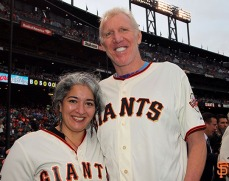 Trixie Garcia and Bill Walton