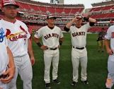 Matt Holiday, Joe Panik and Buster Posey