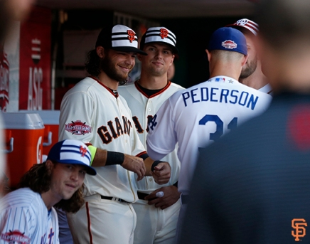 Brandon Crawford and Joe Panik