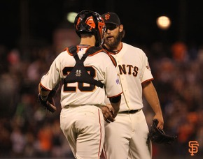 Buster Posey and Madison Bumgarner