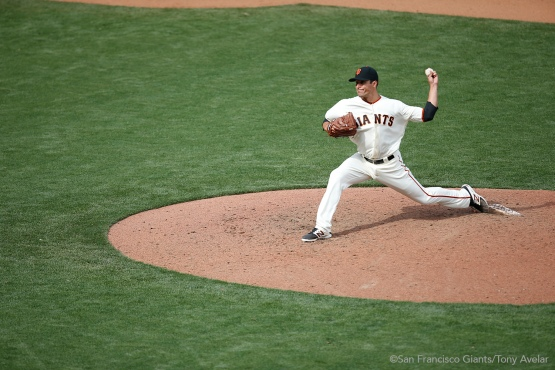 Javier Lopez pitches the seventh inning.