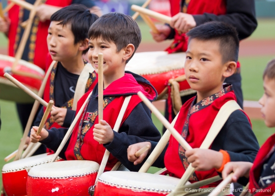 West Portal Elementary drummers start Chinese Heritage Night off with a bang.
