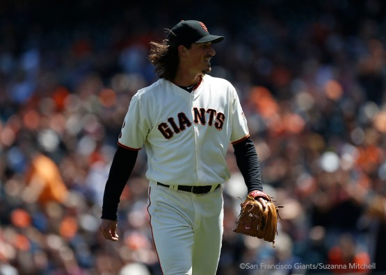 Jeff Samardzija pitched six and two thirds innings.