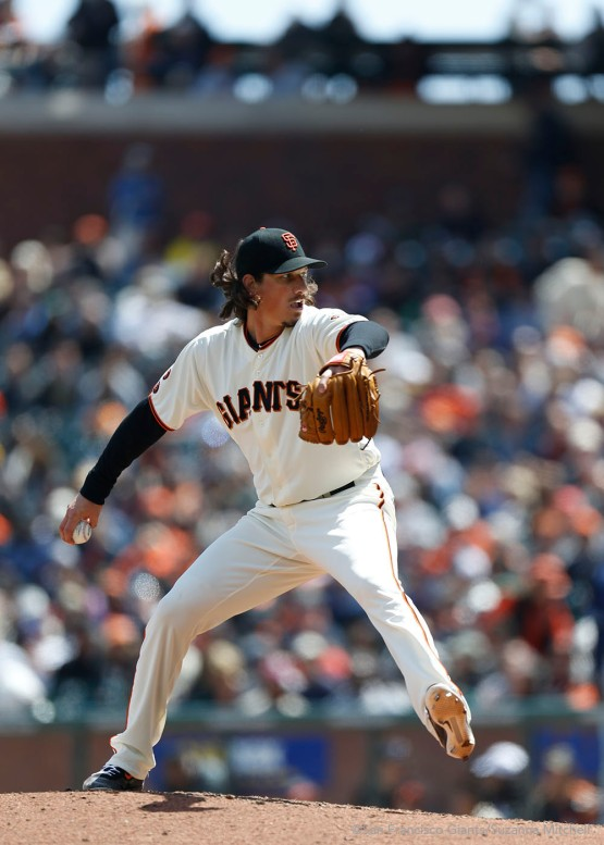 Jeff Samardzija pitches in the fourth inning.