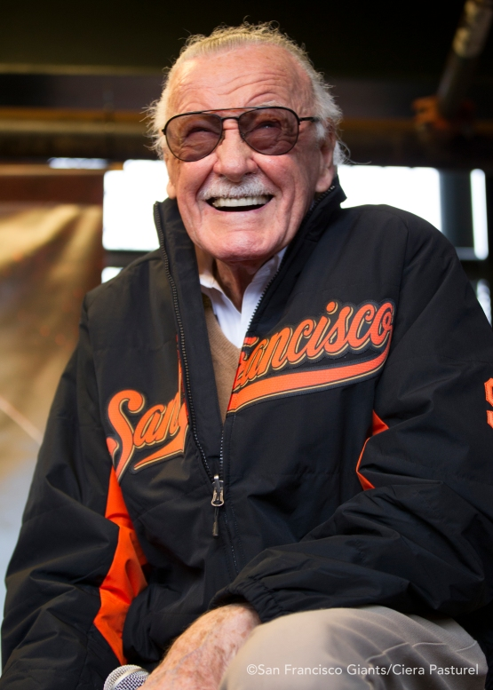Stan Lee makes an appearance at Marvel Day.