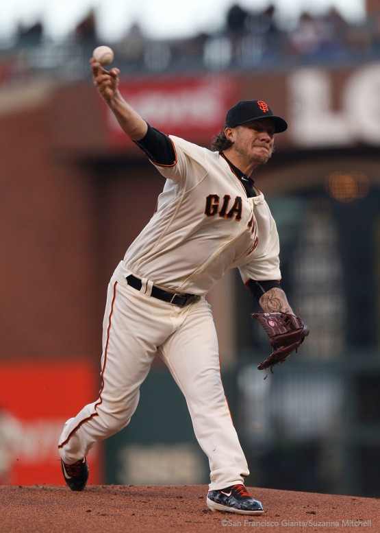 Jake Peavy pitched five innings.