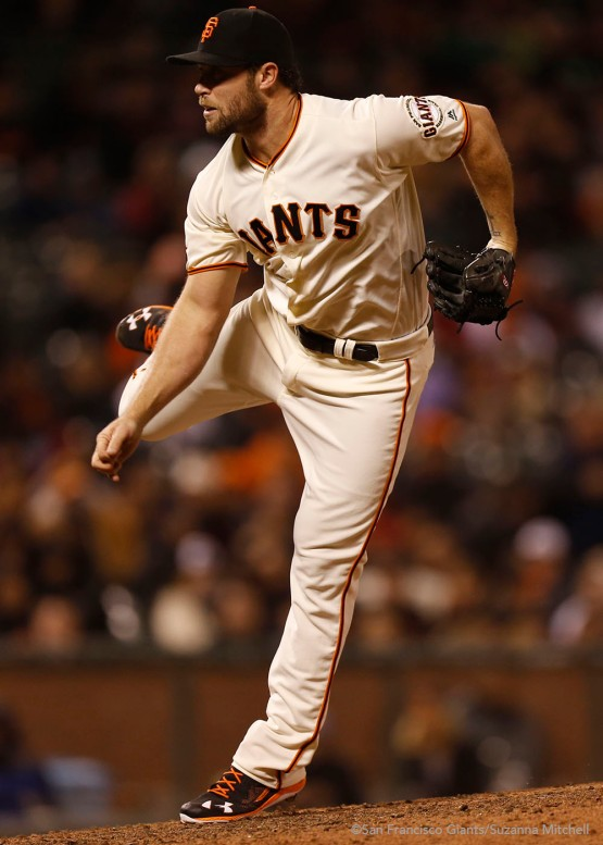 Hunter Strickland pitched the eighth inning.