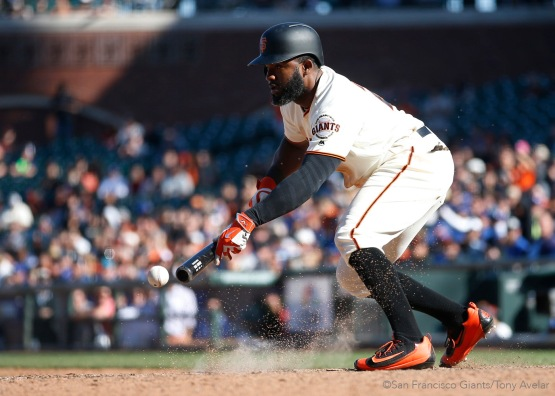 Denard Span sacrifices in the thirteenth inning.