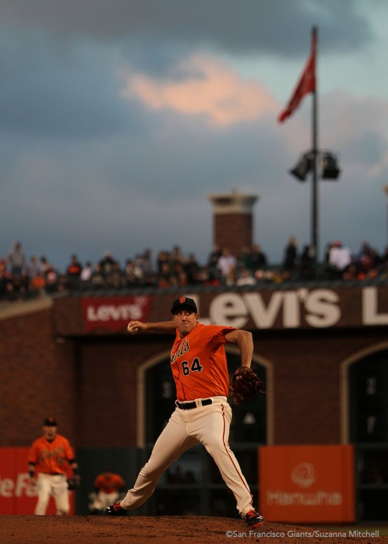 Derek Law relieved Jake Peavy in the second inning.