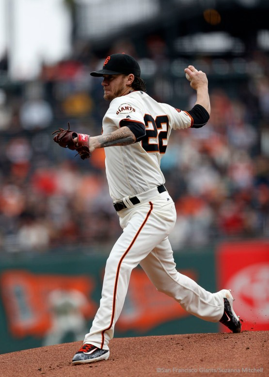 Jake Peavy pitched six and two thirds innings.
