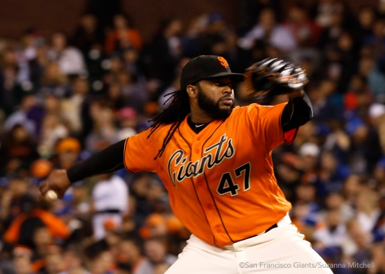 Johnny Cueto pitched eight innings.