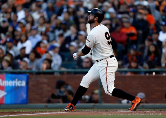 Brandon Belt hits a home run in sixth inning.
