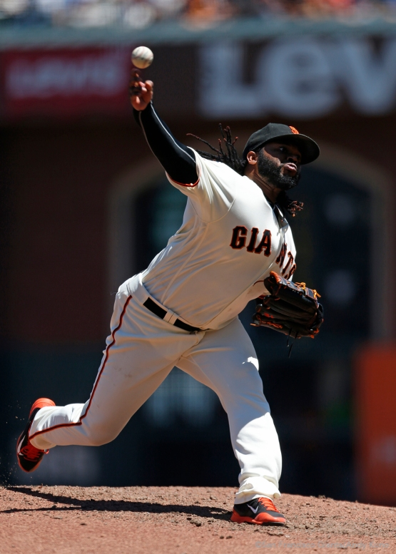 Johnny Cueto pitched six innings.