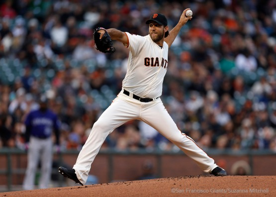 Madison Bumgarner pitched through six innings.