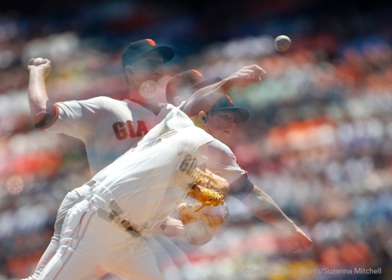 Matt Cain notched his 100th win.