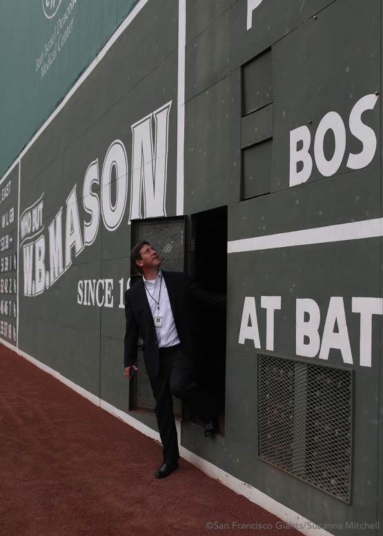 Bobby Evans remembers working for the Red Sox at the start of his career at Fenway Park.