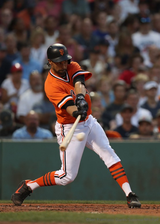 Angel Pagan singles in the third inning.