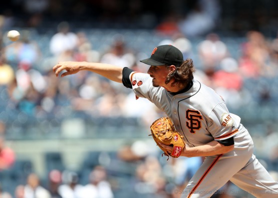 Jeff Samardzija pitched five and two thirds innings.