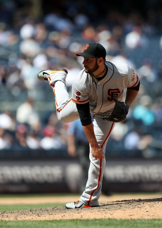 George Kontos pitched one and a third inning.