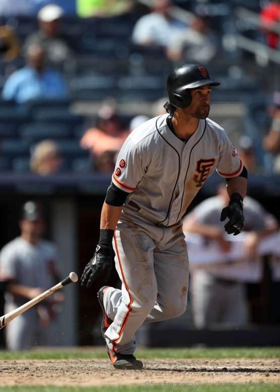 Angel Pagan doubles in the seventh inning.