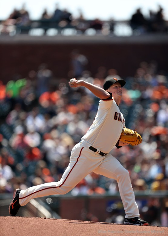 Matt Cain pitched four and two thirds innings.