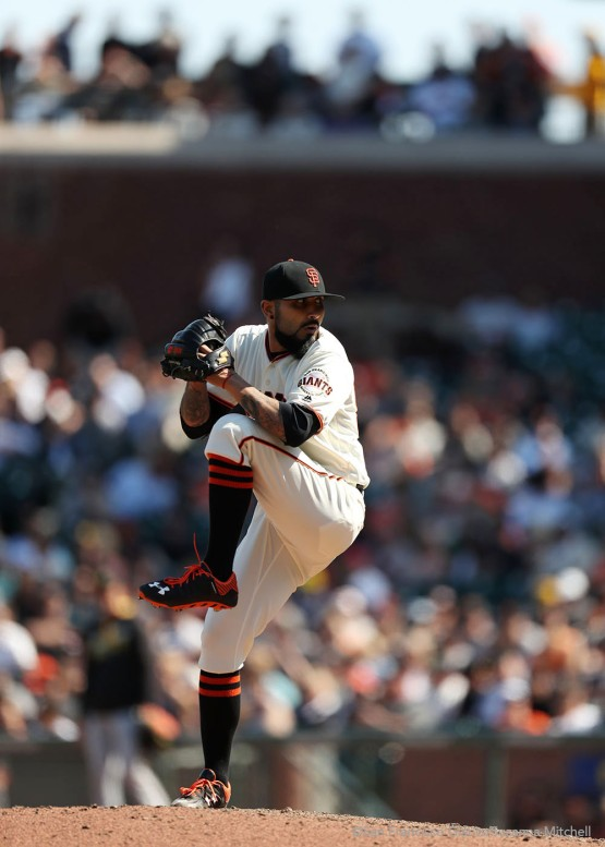 Sergio Romo pitched the ninth inning.