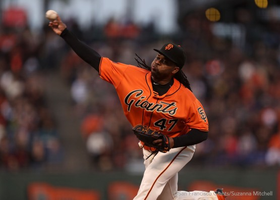 Johnny Cueto pitched seven innings.